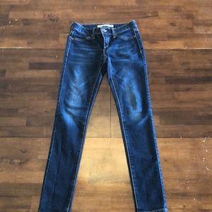 Joe's dark wash skinny jeans.